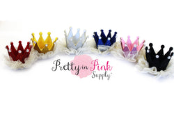 PEARL Glitter Felt Crowns with Sparkle Tulle - Pretty in Pink Supply