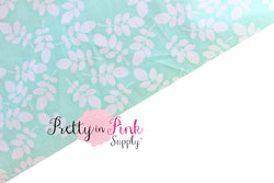 Blue/White Floral Fabric - Pretty in Pink Supply
