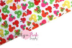 Mickey Fruit Fabric - Pretty in Pink Supply