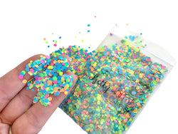 1/2 oz Neon Party Confetti Loose Glitter