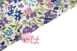 Blue/Purple Floral Fabric - Pretty in Pink Supply