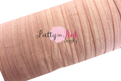 5/8 Blush Pink  Fold Over Elastic - Pretty in Pink Supply