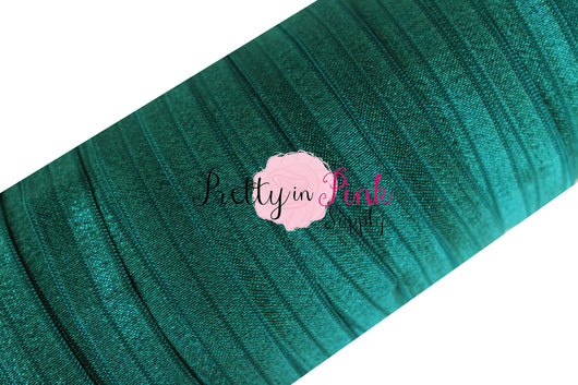 5/8 Hunter Green Fold Over Elastic