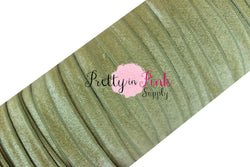 5/8 Olive Green Fold Over Elastic