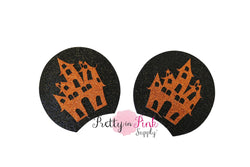 Haunted House Cutout Glitter Mouse Ears