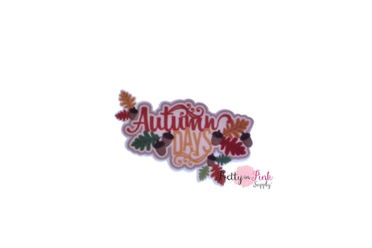 Autumn Days Flat-back Resin