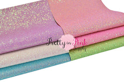 PASTEL BRIGHTS Chunky Glitter Sheets