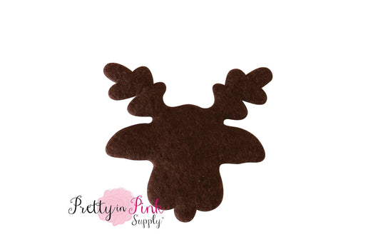 Brown Felt PADDED Reindeer Head 3
