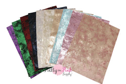 METALLIC Velvet Fabric Sheets