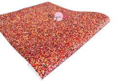 Bedazzled Red Chunky Glitter Sheet