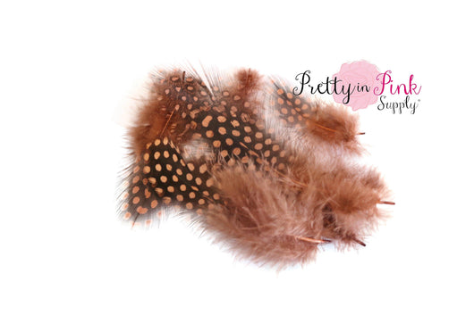 Pack of 5 Brown/ Black Spotted Feather Grab Bag