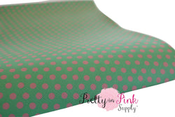 Green/Pink Dot Canvas Sheet