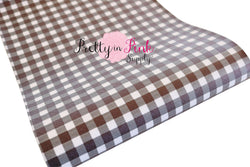 SMALL Black/White CHECKERED Canvas Faux Leather Sheet