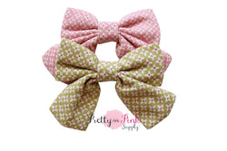 Crisscross Fabric TAIL Bow