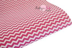 Hot Pink/White Chevron Canvas Sheet