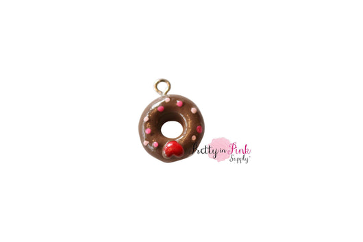 Doughnut HEART Charm - Pretty in Pink Supply