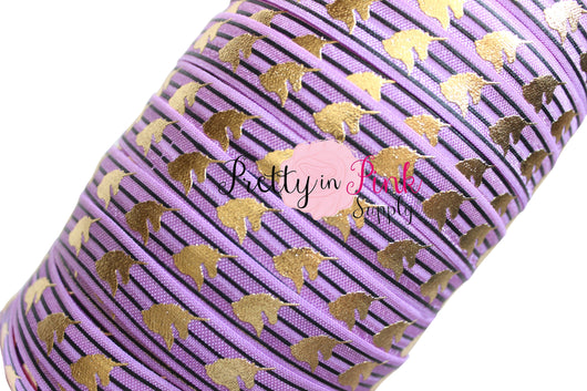 Orchid Striped Unicorn Metallic HEAD Elastic