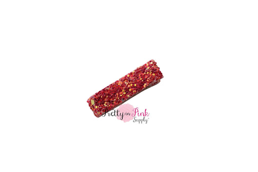 FULLY LINED Chunky Glitter Lined Hair Clips