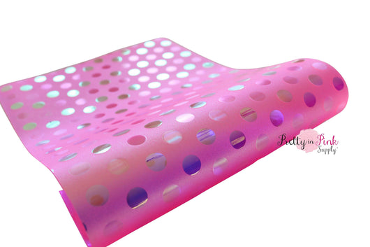 Holographic Dot Jelly Sheets - Pretty in Pink Supply