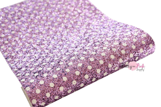 Distressed Pink Lilac Dot Chunky Glitter Sheets