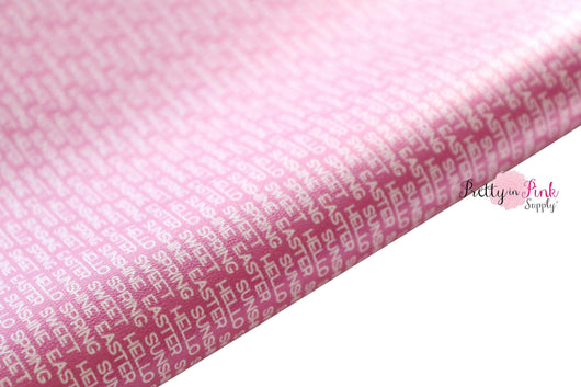HELLO Spring Soft Faux Leather Fabric Sheet
