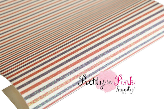 4th of July STRIPE Shimmer Glitter Sheet - Pretty in Pink Supply