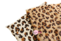 Soft Furry CHEETAH Fabric Sheet