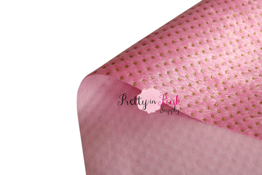 THIN Furry GOLD Dot  Fabric Sheet