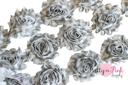 DESTASH SALE- Grey Chevron Shabby Rose Trim