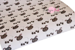 Little Sheep Canvas Faux Leather Sheet