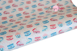 Birthday Cake Soft Faux Leather Fabric Sheet