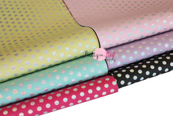 Holographic Dot Soft Faux Leather Fabric Sheet