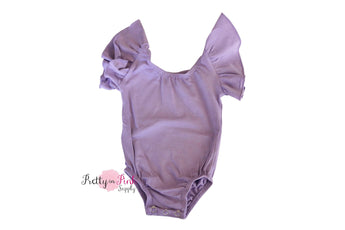 Short Sleeve Ballerina Leotard- LAVENDER