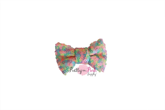 Neon Pastel Sequin Bow