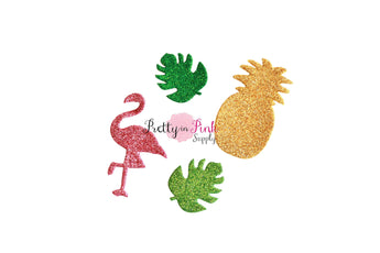 Summer Glitter Foam Applique