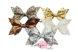 Large Glamour Glitter Bows