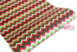 Shimmer Watermelon Seed Zig Zag Canvas Sheet