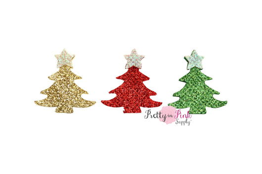 Christmas Trees Glitter Felts