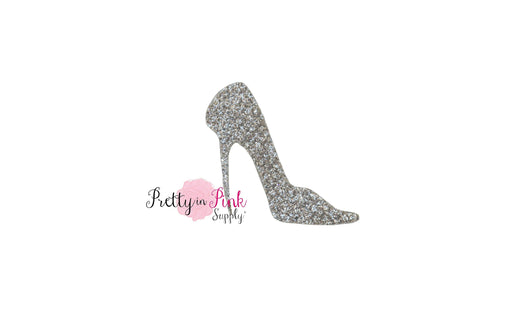 Glitter Silver Glass Slipper Felt