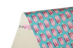 Blue/Purple Popsicle Soft Faux Leather Fabric Sheet