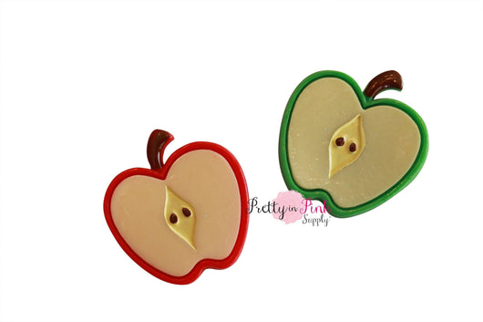 Apple Slice Flat Back Resin
