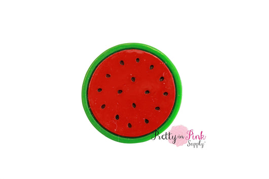 Watermelon Round Slice Flat Back Resin