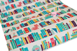 Library Books Canvas Faux Leather Sheet