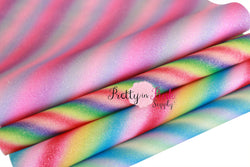 Striped Thin Shimmer Glitter Fabric Sheet