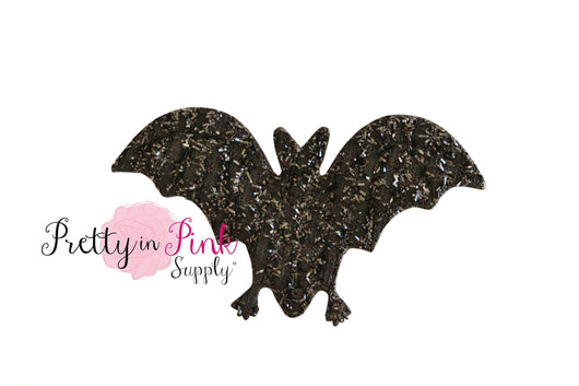 Black Bat Tinsel Applique