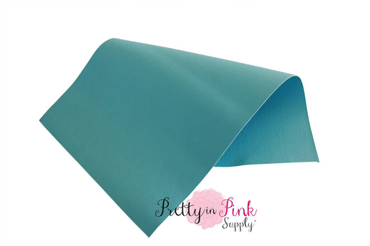 Double Sided Baby Blue Faux Leather Sheet - Pretty in Pink Supply