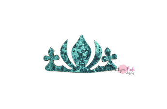 Blue Chunky Glitter Felt Crown