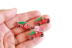 Small 3D Vintage Truck Flat-back Resin