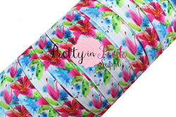 NEW Tropical Floral Print Elastic