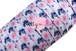 NEW Light Pink/Blue Rose Floral